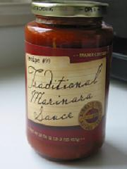 A jar of Trader Joe's Traditional Marinara Sauce - A 99-cent Bargain